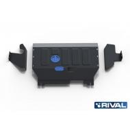 """Защита """"Rival"""" для картера и КПП Ford Transit III FWD 2007-2014. Артикул: 111.1833.1"""