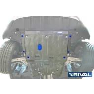"""Защита алюминиевая """"Rival"""" для картера и КПП Mercedes-Benz CLA-Class C117 2013-2018. Артикул: 333.3906.1"""
