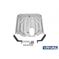 "Защита алюминиевая ""Rival"" для картера и КПП Hyundai Santa Fe III 2012-2018. Артикул: 333.2341.1"