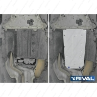 "Защита алюминиевая ""Rival"" для КПП и РК BMW 5-серия G30 4WD 2016-2020. Артикул: 333.0530.1"