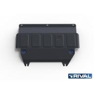 """Защита """"Rival"""" для картера и КПП Ford Fiesta IV, IV 2008-2020. Артикул: 111.1805.2"""