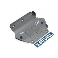 """Защита алюминиевая """"Rival"""" для радиатора Isuzu D-Max II 2012-2020. Артикул: 333.9101.1"""