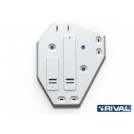 """Защита алюминиевая """"Rival"""" для топливного бака Kia Sorento 4WD 2012-2020. Артикул: 333.2338.1"""