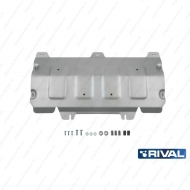 """Защита алюминиевая """"Rival"""" для картера Audi Q5 II АКПП 2017-2020. Артикул: 333.0337.1"""