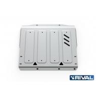 """Защита алюминиевая """"Rival"""" для КПП Mitsubishi Pajero IV 2006-2020. Артикул: 333.4044.1"""