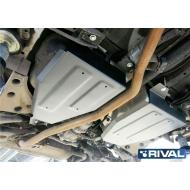 """Защита алюминиевая """"Rival"""" для топливного бака Nissan Murano Z52 2016-2020. Артикул: 333.4159.1"""