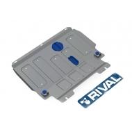 """Защита алюминиевая """"Rival"""" для картера и КПП Ford Fiesta V 2002-2008. Артикул: 333.1806.1"""