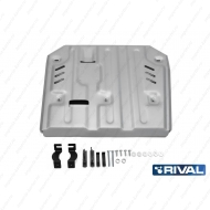 "Защита алюминиевая ""Rival"" для КПП и РК Porsche Cayenne 2010-2020. Артикул: 333.4604.1"