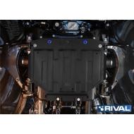 """Защита """"Rival"""" для картера (часть 2) Lexus LX 450 III 2015-2020. Артикул: 111.5714.3"""