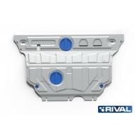 """Защита алюминиевая """"Rival"""" для картера и КПП Audi A3 8V 2012-2020. Артикул: 333.0322.2"""