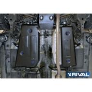 """Защита """"Rival"""" для топливного бака Haval H2 МКПП 4WD 2014-2020. Артикул: 111.9402.1"""