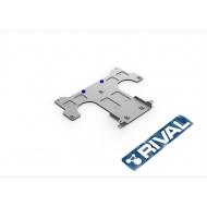 """Защита алюминиевая """"Rival"""" для КПП Porsche Panamera II 2016-2020. Артикул: 333.4611.1"""
