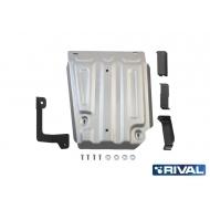 """Защита алюминиевая """"Rival"""" для топливного бака Renault Duster 4WD 2011-2020. Артикул: 333.4718.1"""