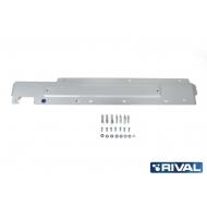 "Защита алюминиевая ""Rival"" для топливных трубок Mitsubishi Outlander 4WD 2012-2020. Артикул: 333.4039.1"