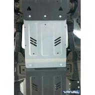 """Защита алюминиевая """"Rival"""" для КПП Mitsubishi L200 V 2015-2020. Артикул: 333.4047.1"""