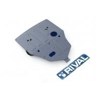 "Защита алюминиевая ""Rival"" для картера и радиатора Lexus GS 350 4WD 2012-2020. Артикул: 333.3212.1"
