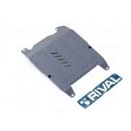 "Защита алюминиевая ""Rival"" для картера и КПП Hyundai Sonata V 2001-2013. Артикул: 333.2310.1"