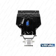 """Защита """"Rival"""" для картера и КПП (увеличенная) Daewoo Nexia I 2008-2016. Артикул: 111.1305.1"""