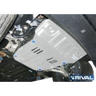 "Защита алюминиевая ""Rival"" для картера Porsche Cayenne 2010-2020. Артикул: 333.5824.2"