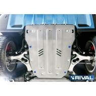 "Защита алюминиевая ""Rival"" для картера Porsche Cayenne 2014-2017. Артикул: 333.4606.1"