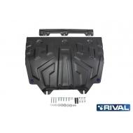 """Защита """"Rival"""" для картера и КПП (увеличенная) Mazda CX-9 II 2017-2020. Артикул: 111.3817.1"""