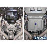 """Защита алюминиевая """"Rival"""" для РК Bentley Bentayga 2016-2020. Артикул: 333.0403.1"""