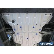 """Защита алюминиевая """"Rival"""" для картера Audi A4 АКПП 2015-2020. Артикул: 333.0334.1"""