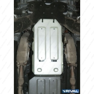 "Защита алюминиевая ""Rival"" для КПП Infiniti Q50 2013-2020. Артикул: 333.2418.1"