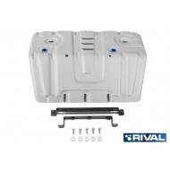 """Защита алюминиевая """"Rival"""" для радиатора Lexus GX 460 2009-2020. Артикул: 333.9516.1"""