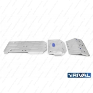 "Защита алюминиевая ""Rival"" для радиатора, картера, КПП и РК Lexus GX 460 2009-2020. Артикул: K333.9516.1"