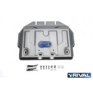 """Защита алюминиевая """"Rival"""" для картера (часть 2) Lexus GX 460 2009-2020. Артикул: 333.5784.1"""