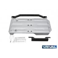 """Защита алюминиевая """"Rival"""" для КПП и РК Lexus GX 460 2009-2020. Артикул: 333.5785.1"""
