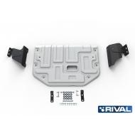"Защита алюминиевая ""Rival"" для картера и КПП Ford Transit 2014-2020. Артикул: 333.1867.1"