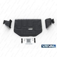 """Защита """"Rival"""" для картера и КПП Ford Tourneo Custom FWD 2012-2018 2017-2020. Артикул: 111.1867.1"""