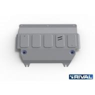 "Защита алюминиевая ""Rival"" для картера и КПП Ford Fiesta VI 2008-2020. Артикул: 333.1805.1"