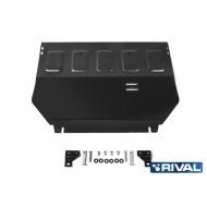 """Защита """"Rival"""" для картера и КПП Mitsubishi Eclipse Cross 2018-2020. Артикул: 111.4050.1"""