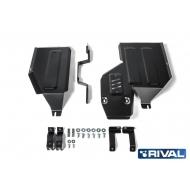 """Защита """"Rival"""" для топливного бака и редуктора Mitsubishi ASX I 4WD 2010-2020. Артикул: 111.4051.1"""