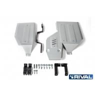 """Защита алюминиевая """"Rival"""" для топливного бака и редуктора Mitsubishi Outlander 4WD 2012-2020. Артикул: 333.4051.1"""