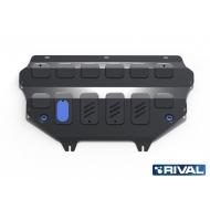 """Защита """"Rival"""" для картера и КПП Peugeot Partner Tepee II 2012-2018. Артикул: 222.4307.1"""