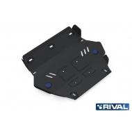 """Защита """"Rival"""" для радиатора Isuzu D-Max II 2012-2020. Артикул: 222.9101.1"""