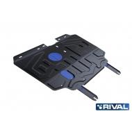 "Защита ""Rival"" для картера и КПП Lifan X70 FWD 2018-2020. Артикул: 111.3307.1"