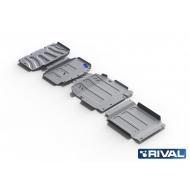 "Защита алюминиевая ""Rival"" для радиатора, картера, КПП и РК Mercedes-Benz X-Class 4WD 2018-2020. Артикул: K333.3943.1"