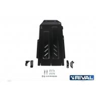 """Защита """"Rival"""" для КПП и РК Kia Stinger 4WD 2018-2020. Артикул: 111.2844.1"""