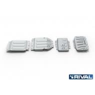 "Защита алюминиевая ""Rival"" для радиатора, картера, КПП и РК Mercedes-Benz X-Class 4WD 2018-2020. Артикул: K333.3943.1.6"