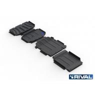 "Защита ""Rival"" для радиатора, картера, КПП и РК Mercedes-Benz X-Class 4WD 2018-2020. Артикул: K222.3943.1"