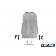 """Защита алюминиевая """"Rival"""" для КПП и РК Kia Stinger 4WD 2018-2020. Артикул: 333.2844.1"""