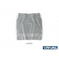 """Защита алюминиевая """"Rival"""" для КПП Fiat Fullback 2016-2020. Артикул: 333.4047.2"""