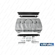 "Защита алюминиевая ""Rival"" для радиатора Fiat Fullback 2016-2020. Артикул: 333.4046.2"