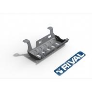 """Защита алюминиевая """"Rival"""" для глушителя Jeep Wrangler JK 3/5-дв. АКПП 2007-2018. Артикул: 333.2723.1.6"""