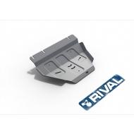 """Защита алюминиевая """"Rival"""" для РК Ford F150 2014-2020. Артикул: 333.1858.1.6"""